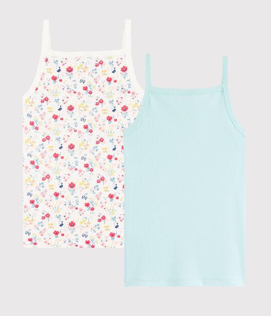2er-Set Trägerhemden mit Blumen-Print für kleine Mädchen lot .