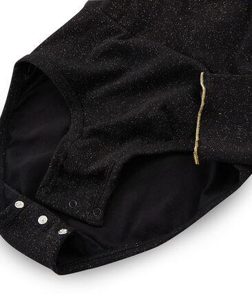 Wickelbody für Damen schwarz Noir / gelb Or