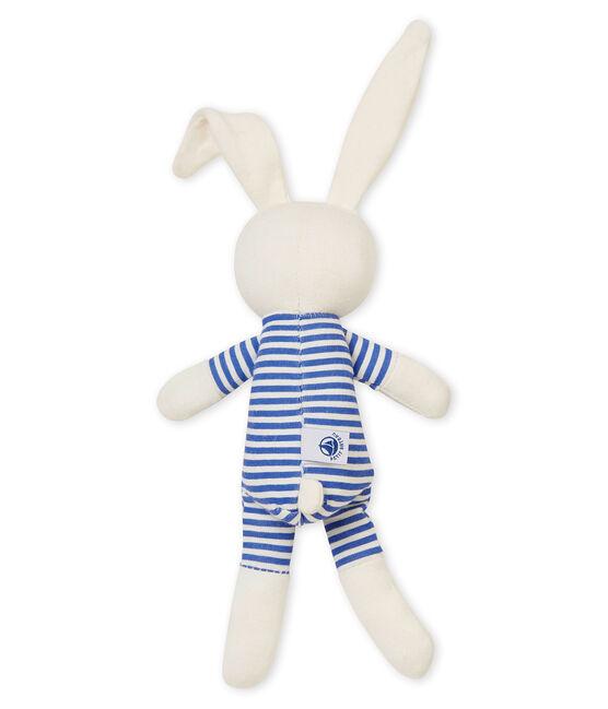 Baby-kuschelhäschen rassel unisex blau Smoking / weiss Marshmallow