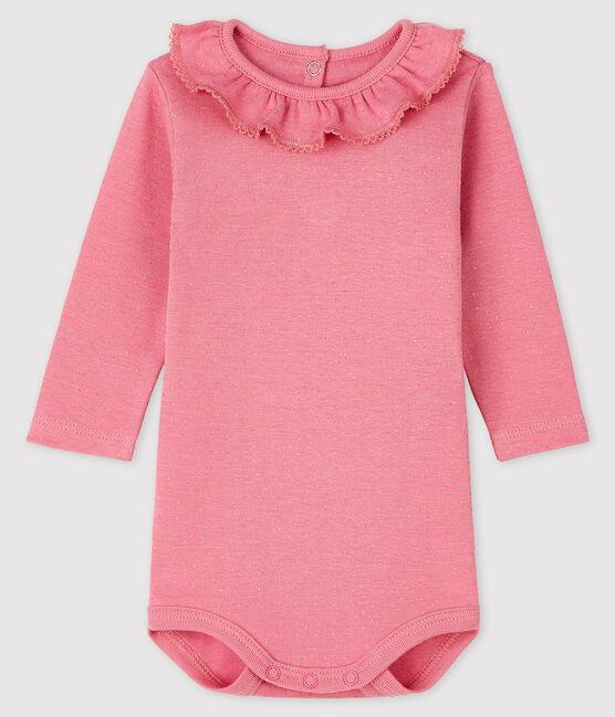 Langärmliger Baby-Body für Mädchen rosa Cheek / gelb Dore