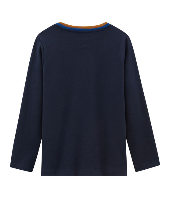 Langärmliges T-Shirt für Jungen blau Smoking