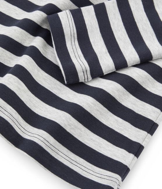 Unterziehpullover für Damen blau Smoking / grau Beluga