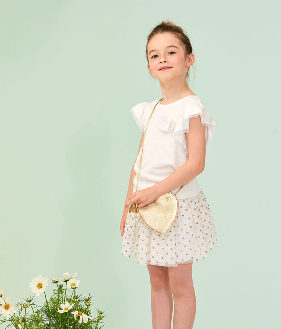 Kinder-T-Shirt für Mädchen weiss Marshmallow