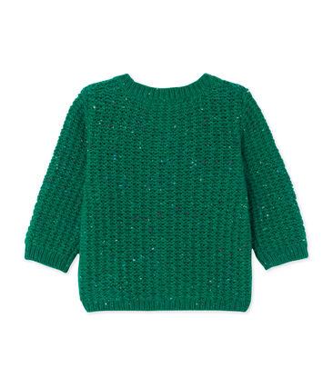 Baby-Mädchen-Cardigan aus Woll-/Nylongemisch grün Gazon