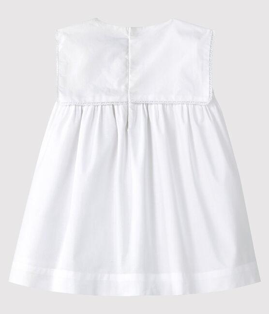 Baby-Festtagskleid für Mädchen weiss Ecume