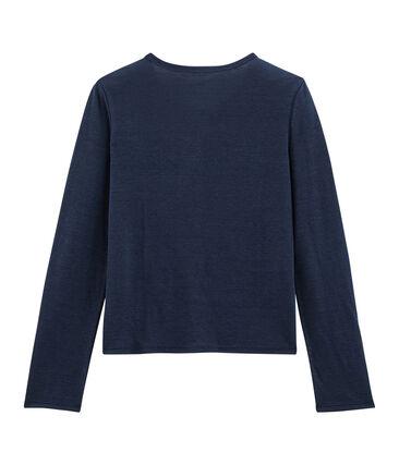 Damen-Cardigan aus Leinen blau Medieval
