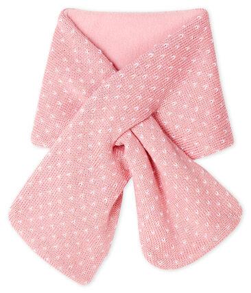 Baby-Schal, unisex mit Fleecefutter rosa Charme / weiss Marshmallow
