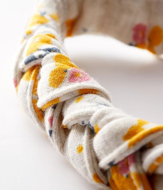 Baby-Haarband für Mädchen beige Montelimar / weiss Multico
