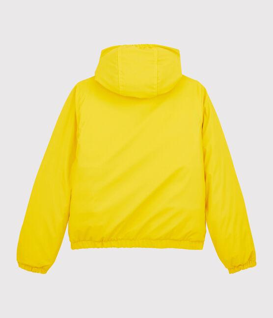 Damen-/Herren-Daunen-Regenjacke aus recyceltem Material gelb Jaune