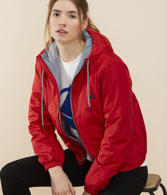 Warmer Windblocker aus recyceltem Material für Damen rot Terkuit