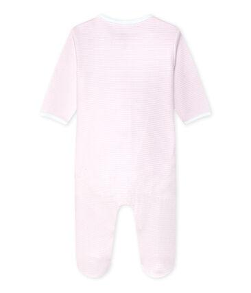Unisex-Baby-Body und Schlafanzug in einem rosa Vienne / weiss Ecume