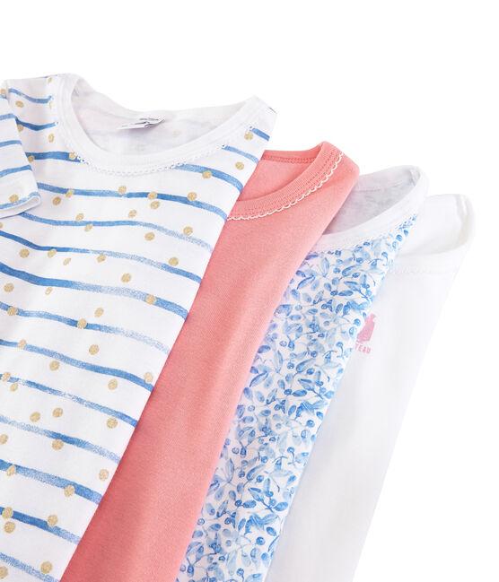 Überraschungstüte mit 4 kurzärmligen T-Shirts für Mädchen lot .