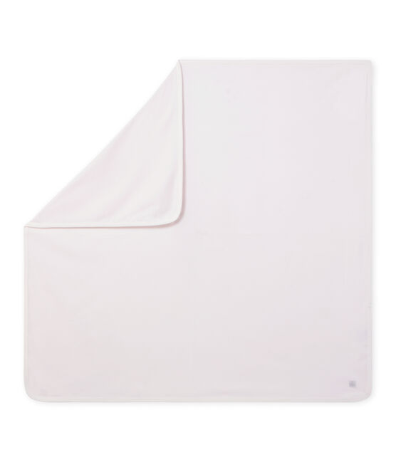 Unisex-Baby-Decke mit Milleraies-Ringelmuster rosa Vienne / weiss Ecume