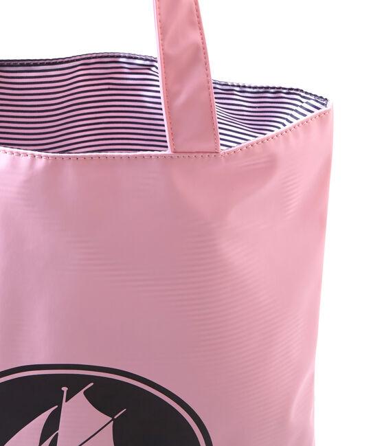 Wasserabweisende Damen-Shopping-Tasche in Uni rosa Babylone