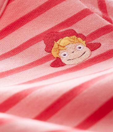 Baby-Streifenbody rosa Gretel / rosa Impatience