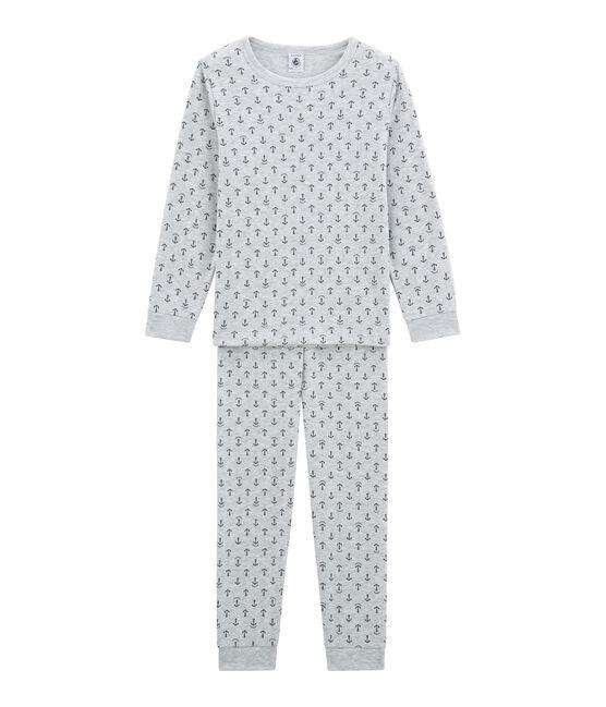 Jungen Schlafanzug grau Poussiere / blau Medieval