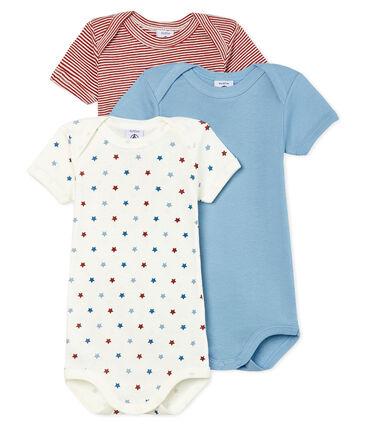 Trio kurzärmelige Baby-Bodys für Jungen
