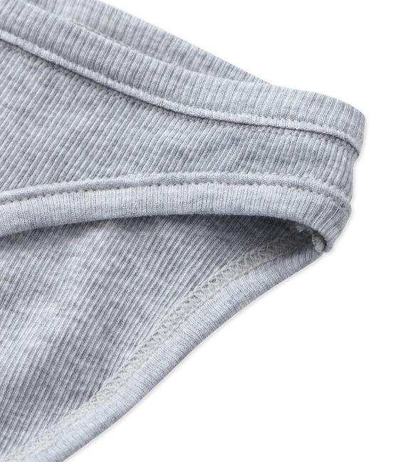 Damen-Slip aus Baumwolle grau Fumee Chine