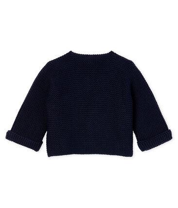 Baby-Cardigan aus 100% Baumwollstrick. blau Smoking