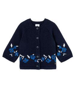 Baby-Cardigan aus Woll-/Baumwollstrick für Mädchen