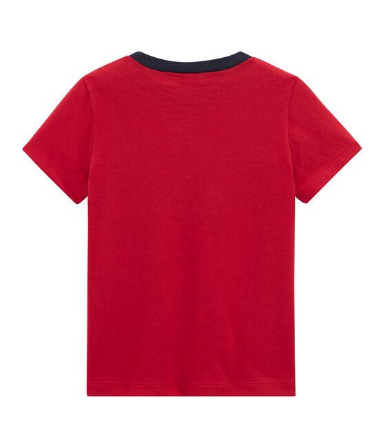 Kurzärmeliges Kinder-T-Shirt Jungen rot Terkuit