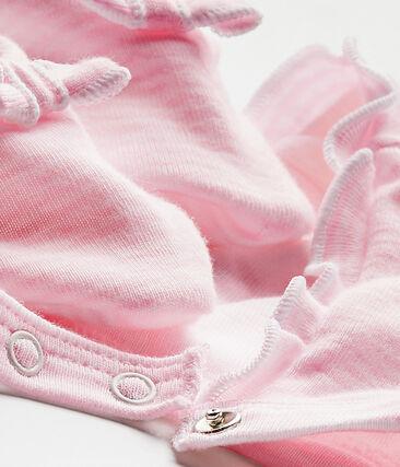 Set aus Baby-Mädchen-Haube und Schuhen