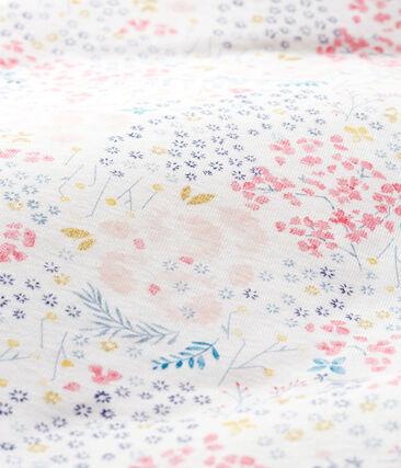 Wendeschlafsack aus Rippstrick für Mädchen weiss Marshmallow / weiss Multico