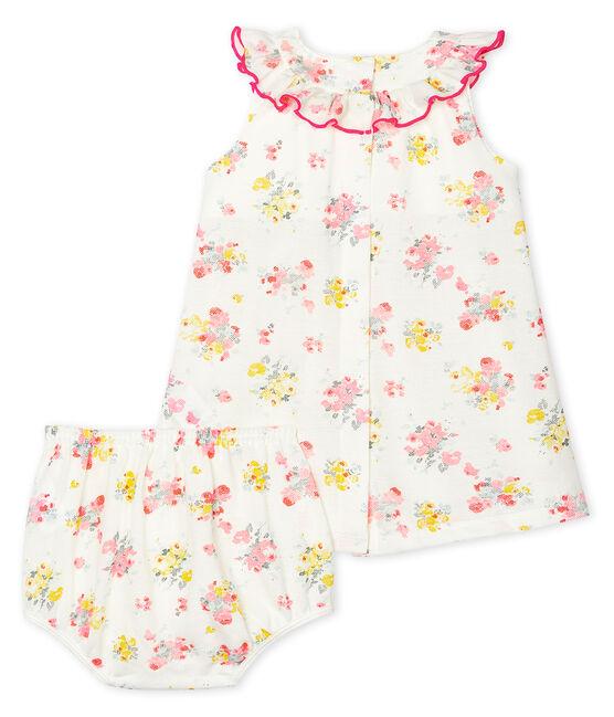 Baby-Kleid und -Bloomers, gemustert, für Mädchen weiss Marshmallow / weiss Multico