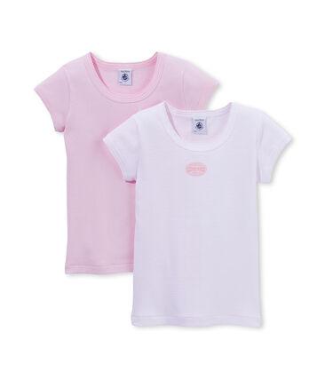 Ein Paar Mädchen T-Shirts einfarbig/ ringel-gestreift lot .