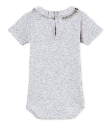Baby-kurzarm-body mit breitem rüschenrg mädchen