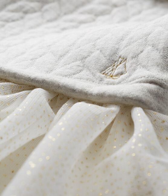 Baby Mädchen Kleid mit langen Ärmeln grau Beluga