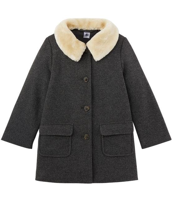 Mädchen Mantel aus Wolle grau Subway