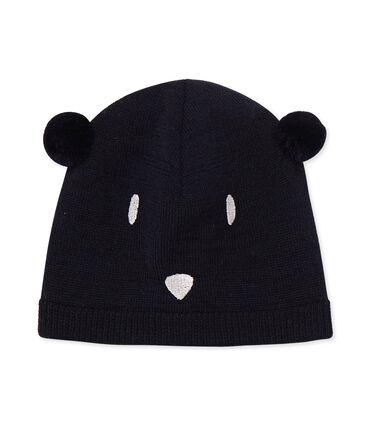 Baby-Mütze unisex blau Smoking