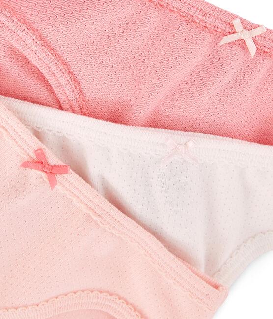 Set mit 3 pastellfarbenen Unterhosen für kleine Mädchen lot .