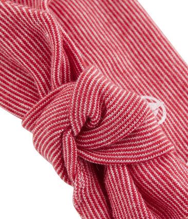 Haarband für Mädchen weiss Marshmallow / rot Terkuit