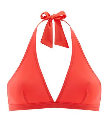 Einfarbiges bikini-oberteil damen