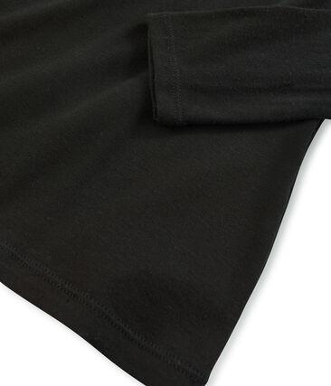 damen unterziehpullover aus leichter baumwolle schwarz Noir