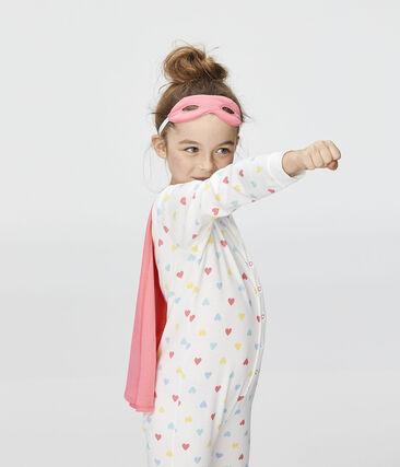 Overall für kleine Mädchen weiss Marshmallow / weiss Multico