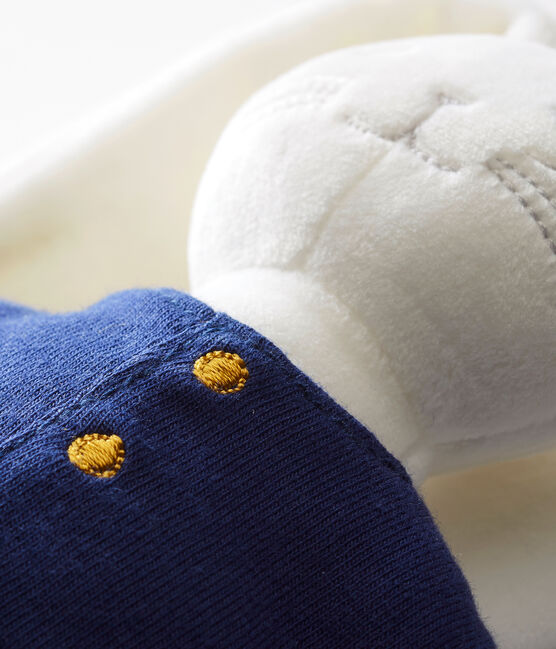 Kuschelhase im maritimen Look weiss Marshmallow / blau Smoking