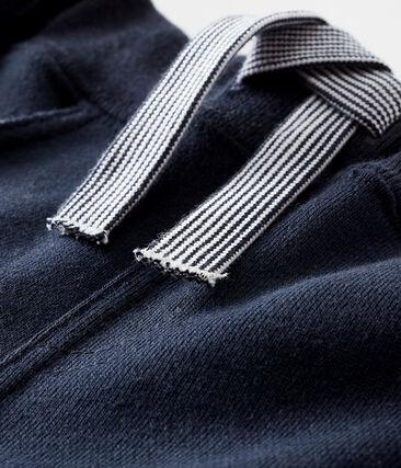 Baby-Hose für Jungen in einfarbigem Molton blau Smoking