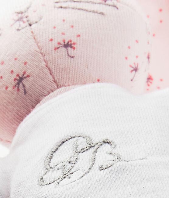 Bedruckter Kuschelhase rosa Vienne / weiss Multico