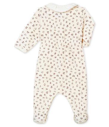 Baby MädchenStrampler aus gedoppeltem Jersey mit Print