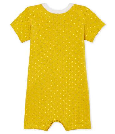 Baby-Kurzoverall Mädchen gelb Honey / weiss Marshmallow
