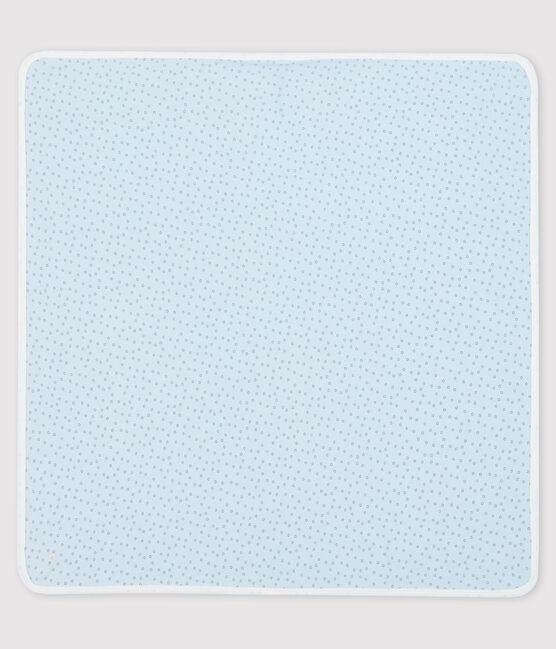 Decke für Neugeborene aus Rippstrick blau Fraicheur / grau Concrete