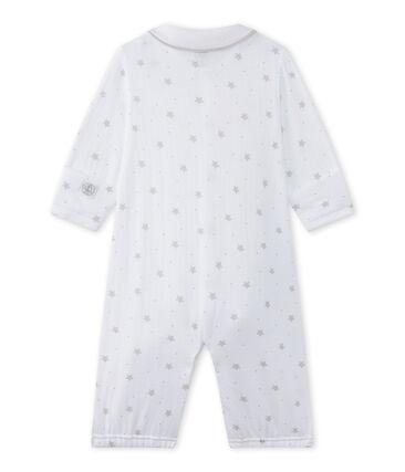 Unisex-Baby-Overall mit 2-in-1-Effekt weiss Ecume / braun Shitake