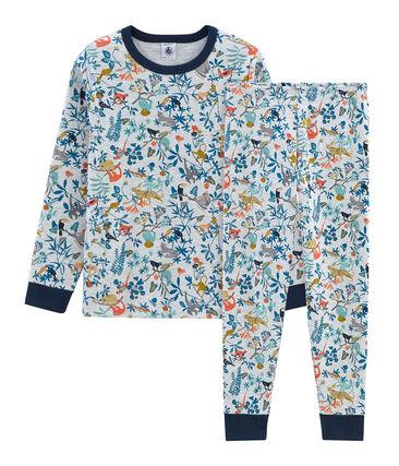 4a544c35bf Rippstrick-Pyjama für kleine Jungen | Petit Bateau
