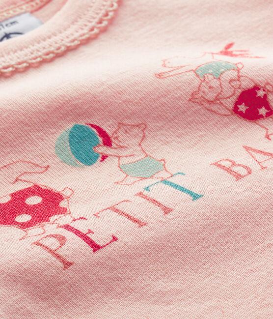 Langärmliger Baby-Body für Mädchen rosa Minois