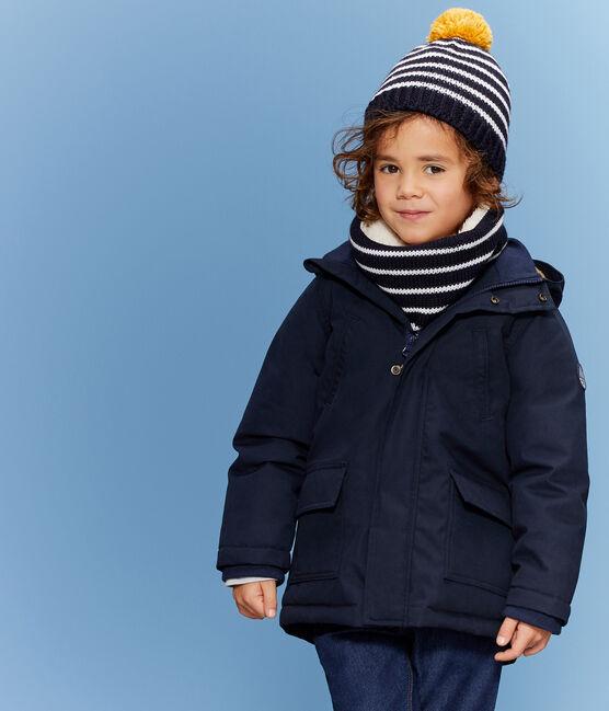 Kindermütze für Jungen blau Smoking / weiss Marshmallow