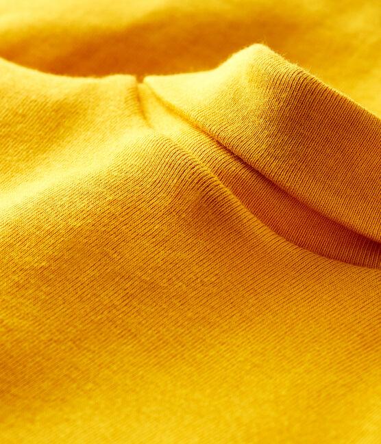 Langärmeliger Baby-Body mit Rollkragen gelb Boudor