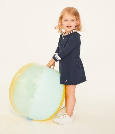 Langärmeliges baby-kleid mit matrosenkragen mädchen